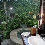 baño, ducha y jacuzzzi al aire libre