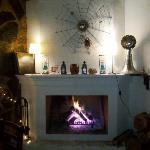 great fireplace for romantic evening