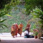 Monks on alms walk