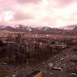 View of Salt Lake City and mountains from room on 22nd floor