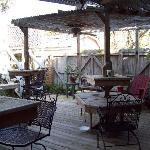 The porch area.