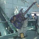 Michael Jackson guitar at the entrance