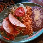 Chicken tacos plate