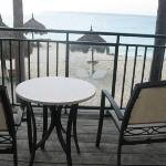 our hotel room patio-awesome ocean/beach view