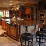 The kitchen at the lodge