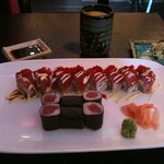 Christman Roll and a Tuna Roll