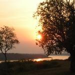 Beautiful sunsets from Paraa Safari Lodge