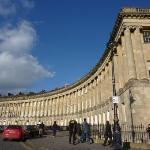 The Royal Crescent.  The former residence of the Duke of York is now part of the Royal Crescent