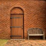 The Back Door - The back door of the Robert Mill's Carriage house.