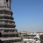view from the top of Wat Arun