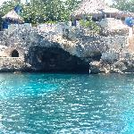 I took the picture from swimming,awesome view of one of the 3 caves you can explore! The Caves r