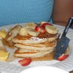yummy pancakes made by Steve!