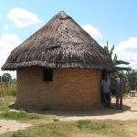 Typical rural Zimbabwe home. Actually this portion is the kitchen.