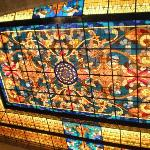 stained glass lobby ceiling