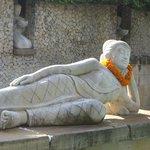Statue overlooking the Nirwana pool
