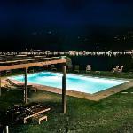 La piscina di Villa Sostaga - Notturno