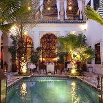 RIAD MONCEAU - PATIO AT NIGHT 2