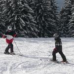 Skiing with kids is fun!