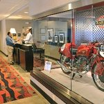 Hotel Lobby with Motorcycle discplay