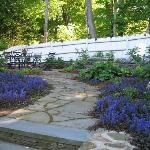 The patio in the spring