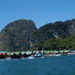 Floating village enroute to James Bond Island