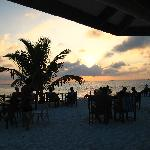 Tramonto dal beach bar