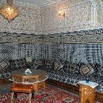 Traditional plaster and mosaic decorated salon