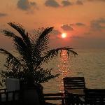 coucher de soleil vue du bar