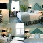 The Moss Room in soothing greens with a King Bed