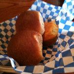 fresh rolls and cornbread