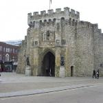 The Bargate from the north. The Bargate was built circa 1180 AD, constructed of stone and flint.