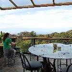 Veranda with view at breakfast