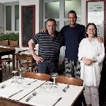 The chef at Da Carlo and his parents
