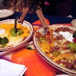 Nachos and Mexican Pizza