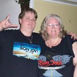 Mom and Son bonding Feb 22 1010  - our 2nd Bon Jovi Concert..we lost our voices and couldn't hea