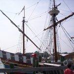The Elizabeth II.  Replica ship of the lost colony.