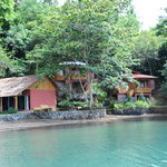 NAD view from the sea, some of the rroms & one of the two bungalows