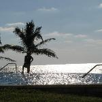 Sunset pool & ocean