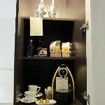 Nespresso machine and minibrar