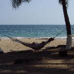 our exercise for the day - how can you get into a hammock without nearly tipping out?