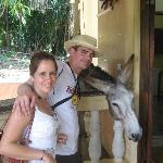 Pancho the drinking donkey