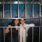 Me and maggie going cage diving with sharks lol