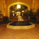 One of the courtyards at the resort