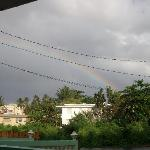 The rainbow when we first arrived