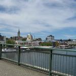 crossing the river in Valdivia