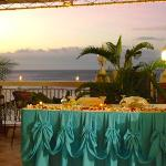 Our wedding at dreamwave - headtable off of the balcony