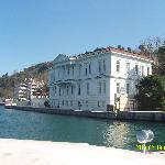 View of hotel from the Bosphorus