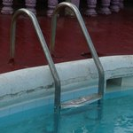 pool ladder in bad condition