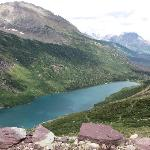 Gunsight Lake as viewed from near Gunsight Pass (on the trail to Sperry Chalet)