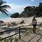 Beautiful beach at Tulum Ruins